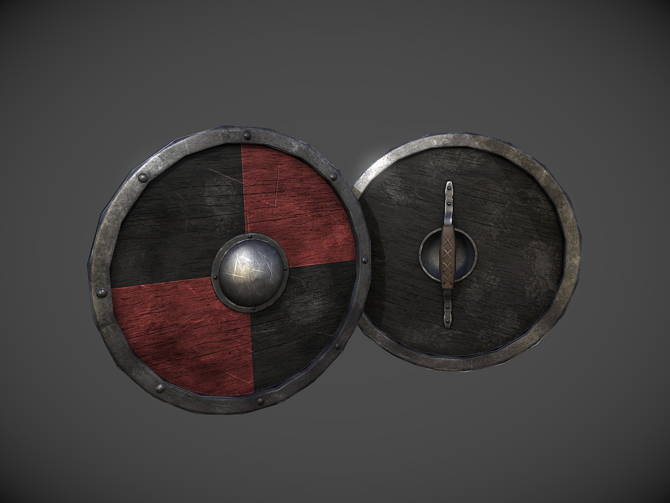 For Honor weapon round shield